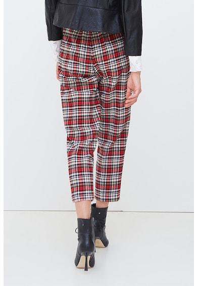 Motivi Oltre, Pantaloni crop in carouri Femei