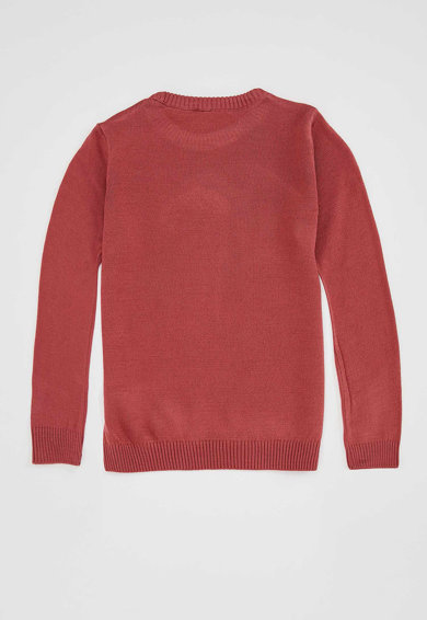 DeFacto Pulover tricotat fin cu aplicatii de paiete Fete