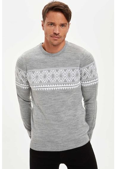DeFacto Pulover slim fit tricotat fin C Barbati