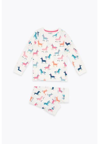 Marks & Spencer Pijama cu imprimeu unicorn Fete