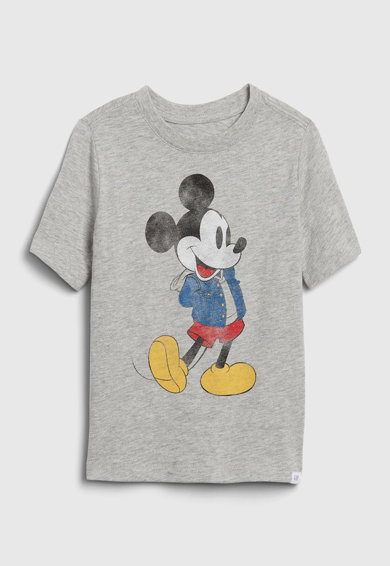 GAP Tricou cu decolteu la baza gatului si imprimeu cu Mickey Mouse Fete