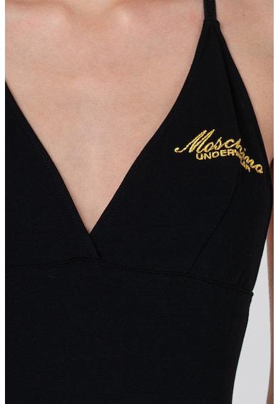 Moschino Body de casa cu detaliu text brodat Femei