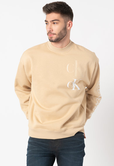 CALVIN KLEIN JEANS Bluza sport din amestec de bumbac organic cu logo 4 Barbati