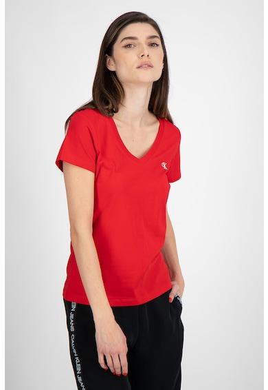 CALVIN KLEIN JEANS Organikuspamut-tartalmú szűk fazonú póló női