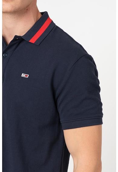 Tommy Jeans Galléros organikuspamut póló hímzett logós részlettel férfi