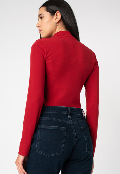 Tommy Jeans Szűk szabású felső középmagas gallérral női
