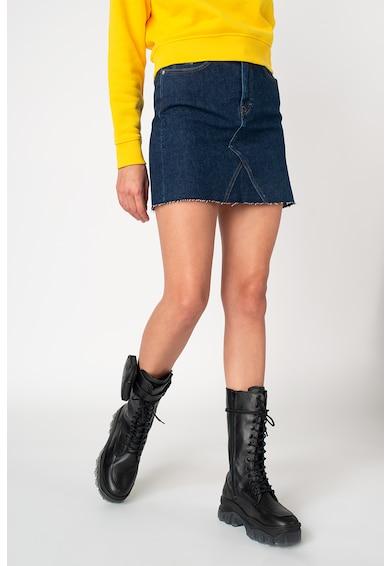 Tommy Jeans Magasderekú mini farmerszoknya női