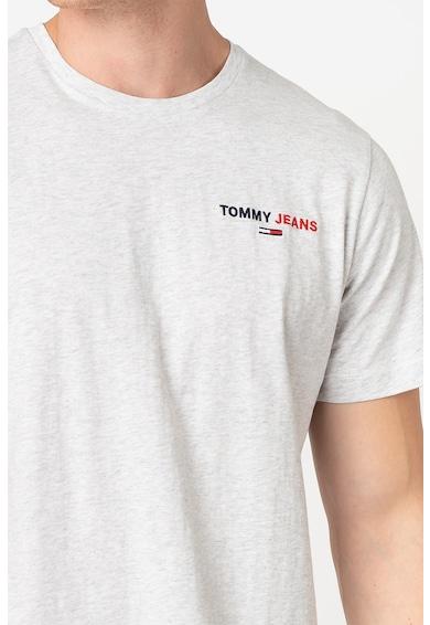Tommy Jeans Organikuspamut póló logóhímzéssel 1 férfi