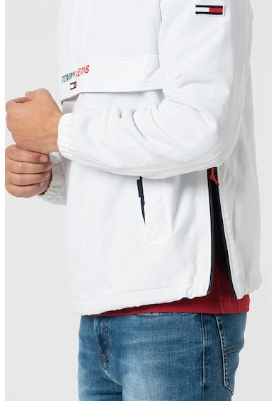 Tommy Jeans Kapucnis télikabát az oldalán cipzárral férfi