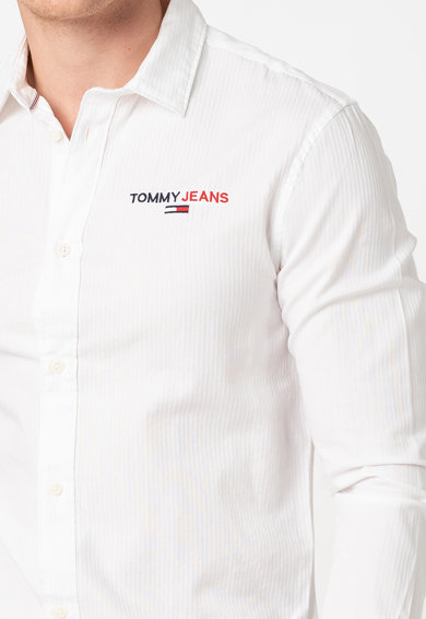 Tommy Jeans Camasa din bumbac cu logo Barbati