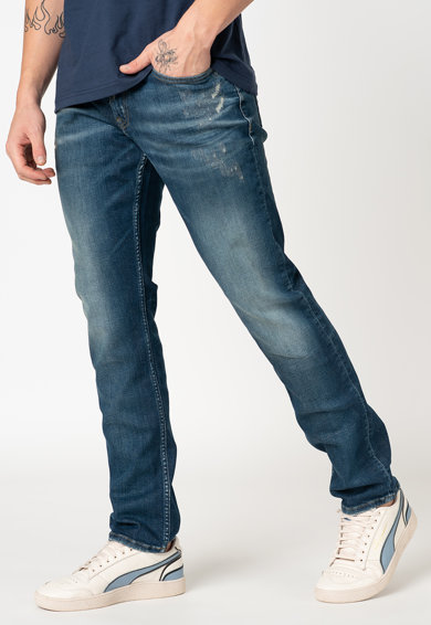 Tommy Jeans Mosott hatású slim fit farmernadrág férfi