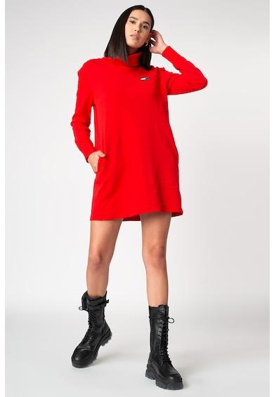 Tommy Jeans Garbónyakú miniruha logós részlettel női