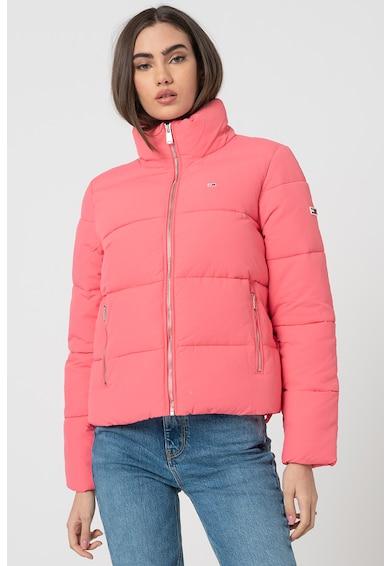 Tommy Jeans Rövid Steppelt télikabát női