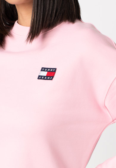 Tommy Jeans Organikuspamut pulóver logós részletekkel női