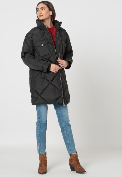 Tommy Jeans Steppelt hatású bélelt hosszú télikabát női