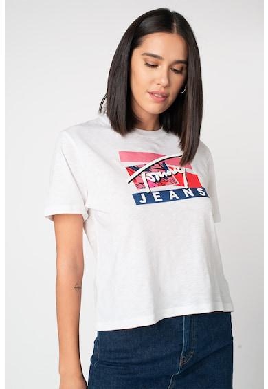 Tommy Jeans Tricou de bumbac organic Signature Femei
