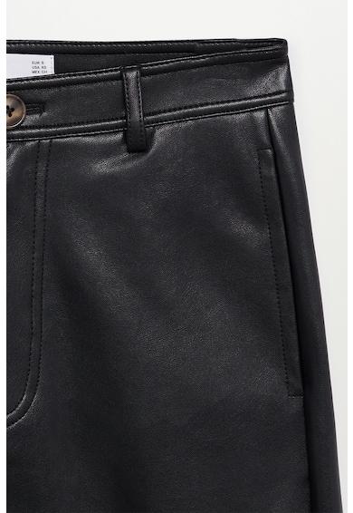 Mango Pantaloni de piele ecologica Camilla Femei