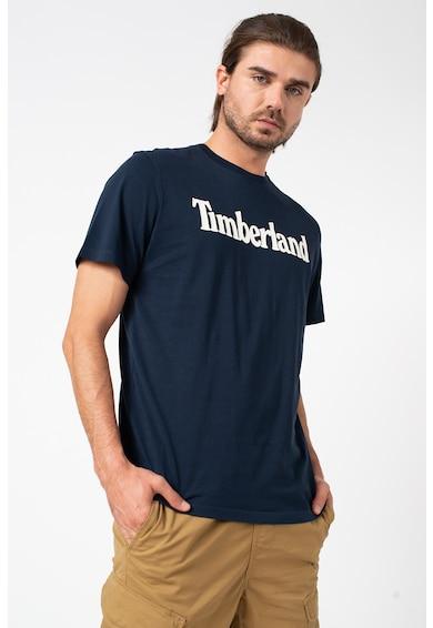 Timberland Tricou din bumbac cu decolteu la baza gatului si logo Kennebec Barbati