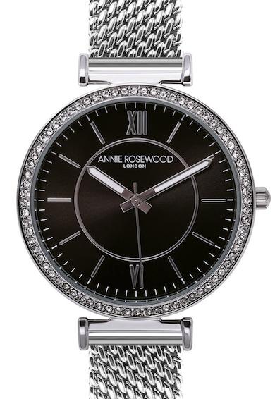 Annie Rosewood Ceas din otel inoxidabil decorat cu cristale Femei