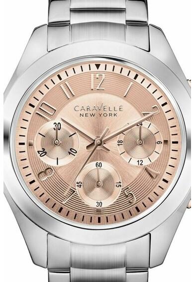 Caravelle Ceas cronograf cu bratara metalica Femei