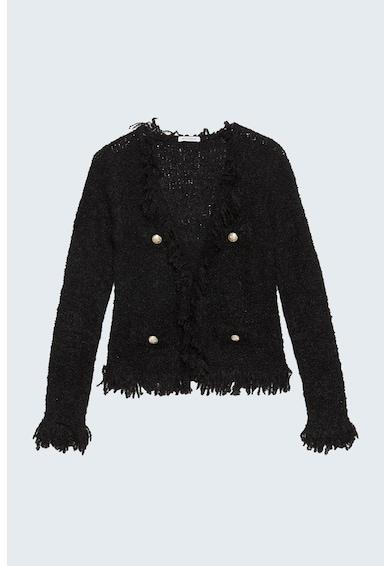 Motivi Sacou boucle din amestec de lana cu doua randuri de nasturi Femei
