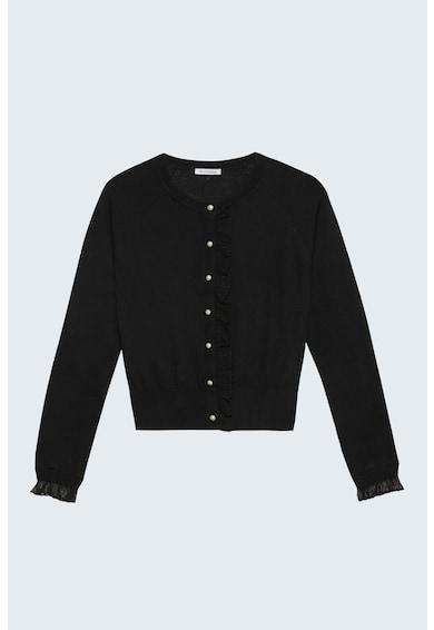 Motivi Cardigan tricotat fin cu garnitura cu volane Femei