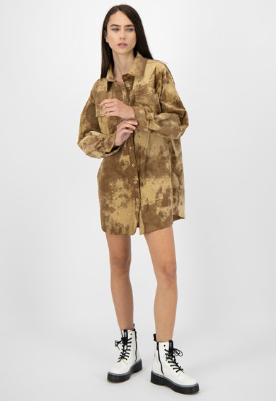 Missguided Rochie mini tip camasa cu model abstract Femei