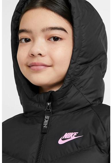 Nike Geaca matlasata cu detaliu logo Fete