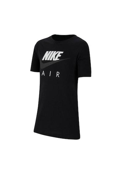 Nike Tricou cu decolteu la baza gatului si imprimeu logo Air Baieti