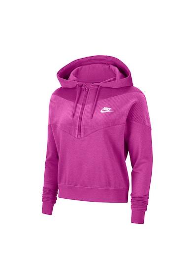 Nike Hanorac cu fenta cu fermoar Velour Femei