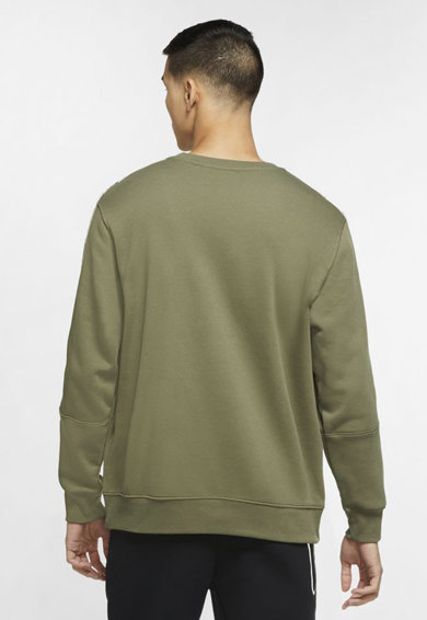 Nike Repeat pulóver logós oldalcsíkokkal férfi