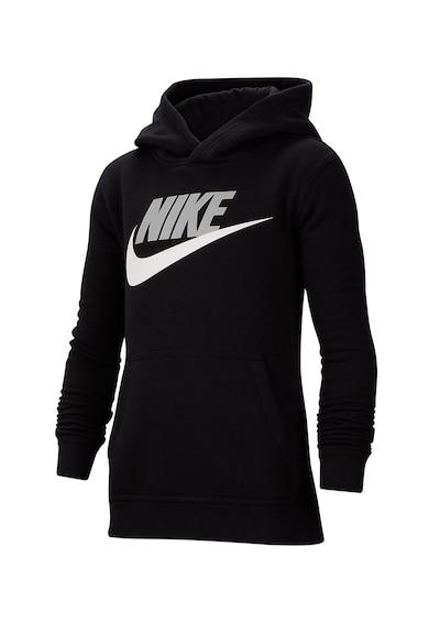Nike CLUB + HBR kapucnis pulóver logóval és kenguruzsebbel Fiú