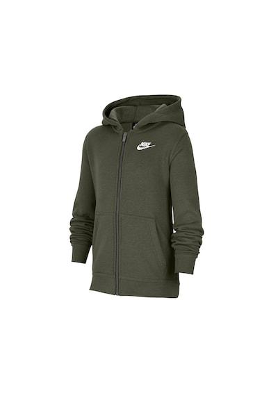 Nike Club cipzáros kapucnis pulóver logós részlettel Lány