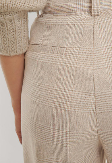 NA-KD Pantaloni in carouri cu talie inalta Femei