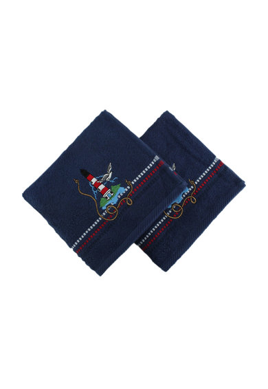 Hobby Set 2 prosoape  Marina Dark Blue Deniz Feneri, 100% bumbac, 50 x 90 cm, Multicolor Femei