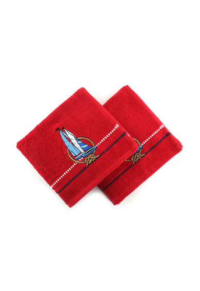 Hobby Комплект кърпи  Marina Red Yelken, 2 бр, 100% памук, 50 x 90 см, Многоцветен Жени
