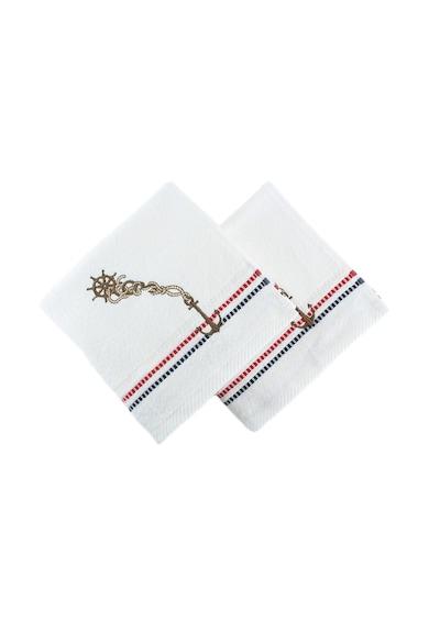 Hobby Комплект кърпи  Marina White Çıpa, 2 бр, 100% памук, 50 x 90 см, Многоцветен Жени