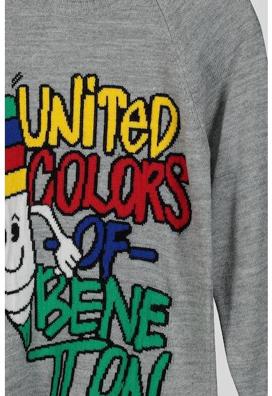 United Colors of Benetton Pulóver dekoratív rátéttel Lány