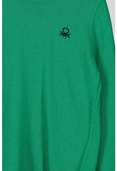 United Colors of Benetton Pulover din amestec de lana cu decolteu la baza gatului Baieti