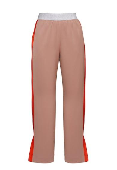 PARLOR Pantaloni cu benzi laterale contrastante Femei