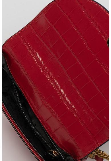 DKNY Geanta crossbody de piele cu aspect de piele de crocodil Cooper Femei