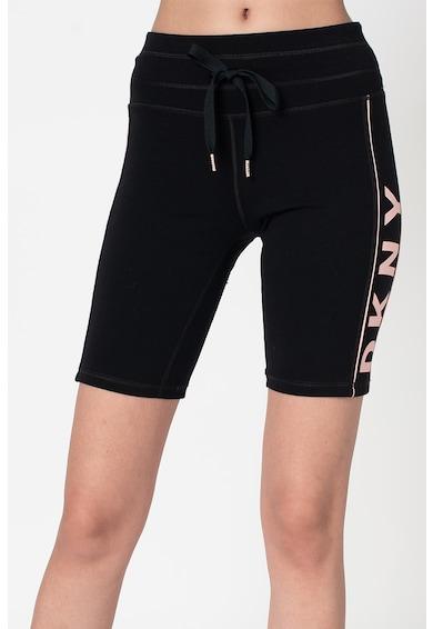 DKNY Colanti scurti cu talie medie cu imprimeu logo Femei