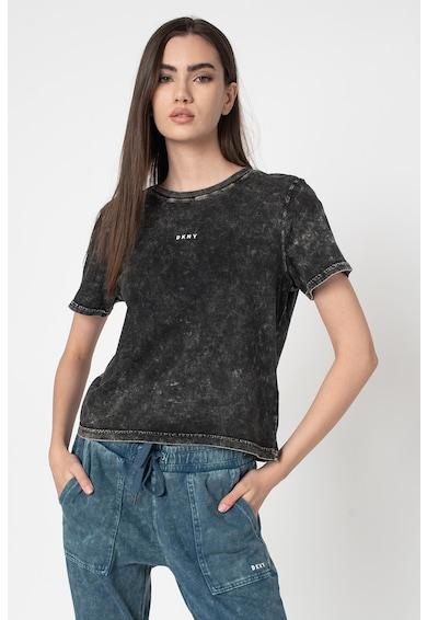 DKNY Tricou cu imprimeuri logo si tie-dye Femei