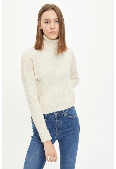 DeFacto Pulover tricotat fin cu guler inalt 8 Femei