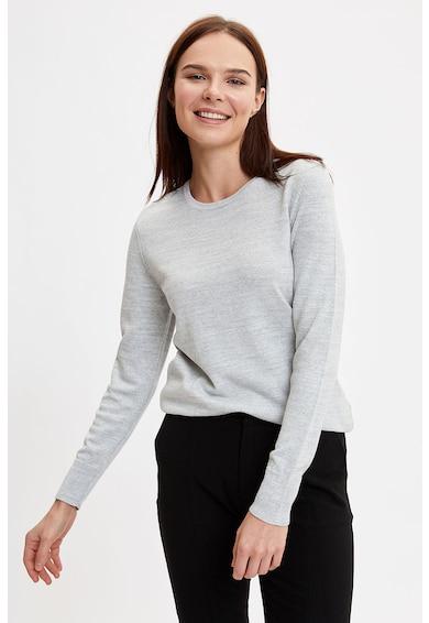 DeFacto Pulover tricotat fin cu decolteu rotund Femei