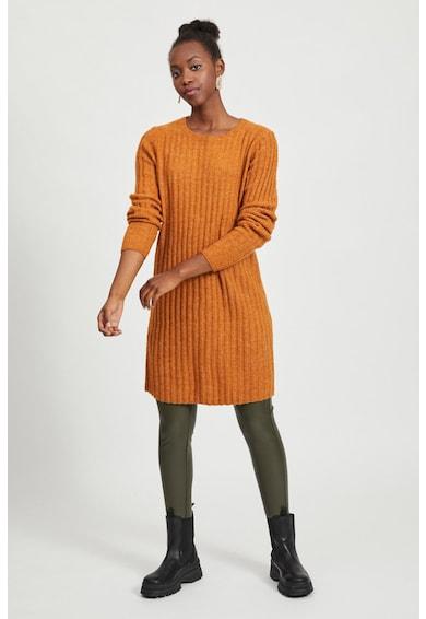 Vila Rochie tip pulover din amestec de lana alpaca si lana cu striatii Femei