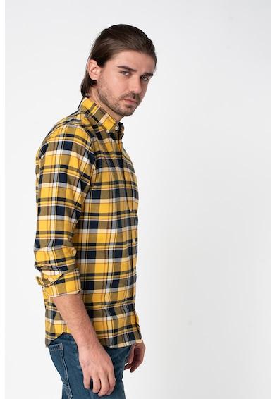 GAP Camasa slim fit cu model gingham Barbati