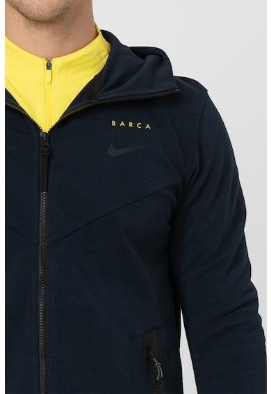 Nike Jacheta usoara cu fermoar si gluga FC Barcelona Barbati
