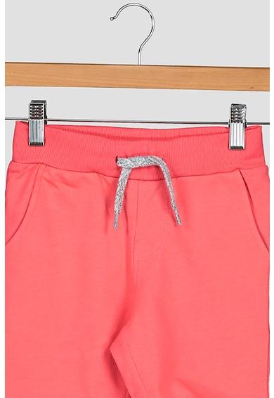 NAME IT Pantaloni sport scurti de bumbac organic cu snur in talie Fete