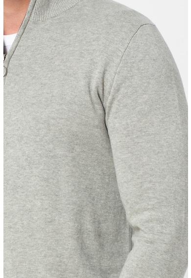 Jack&Jones Pulover tricotat fin cu fenta cu fermoar Barbati